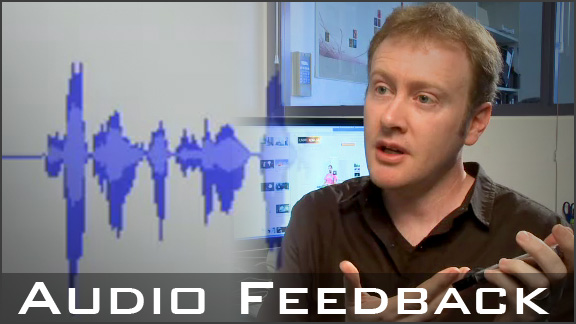 Using audio feedback